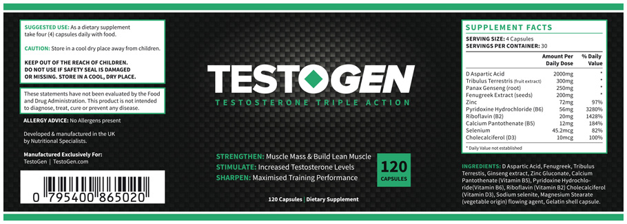 Testogen booster